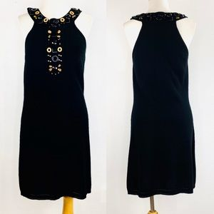 MILLY OF New York Dress 100 Cashmere Knit Jewels M